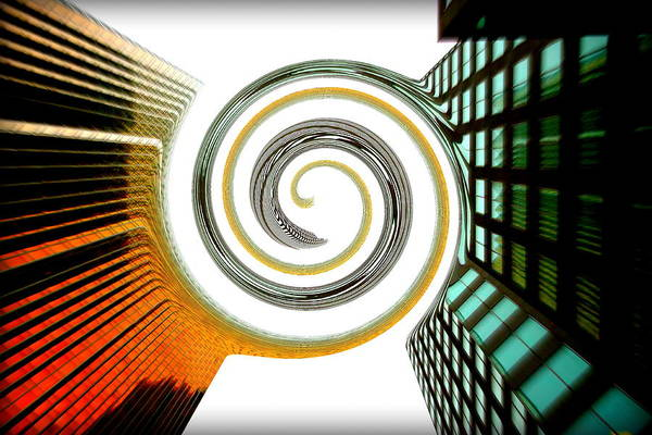 Merge Art Print featuring the photograph Corporate Merging by Valentino Visentini