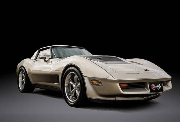 Classic Art Print featuring the digital art Corvette C3 by Douglas Pittman