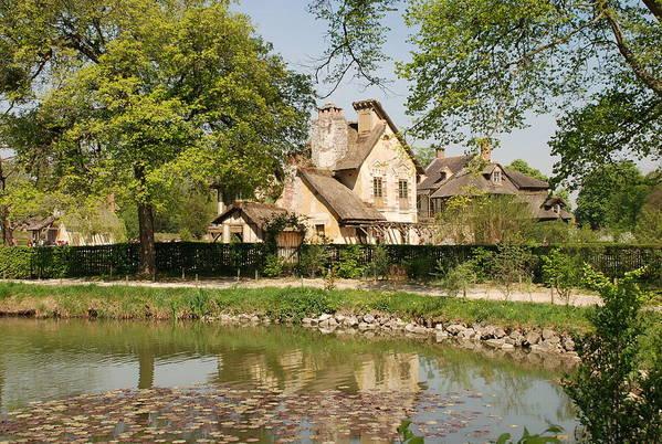 Cottage Art Print featuring the photograph Cottage In The Hameau De La Reine by Jennifer Ancker