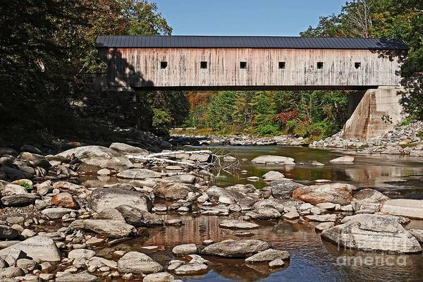 Vermont Art Print featuring the photograph Covered Bridge Vermont by Edward Fielding