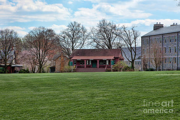 Haverford Art Print featuring the photograph Cricket Field Haverford College by Kay Pickens