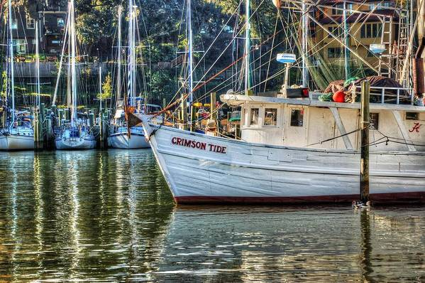 Water Art Print featuring the photograph Crimson Tide In The Sunshine by Michael Thomas
