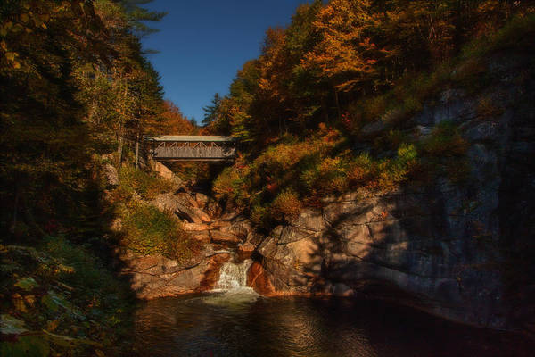 Sentinel Pine Bridge Art Print featuring the photograph Crossing Over by Jeff Folger