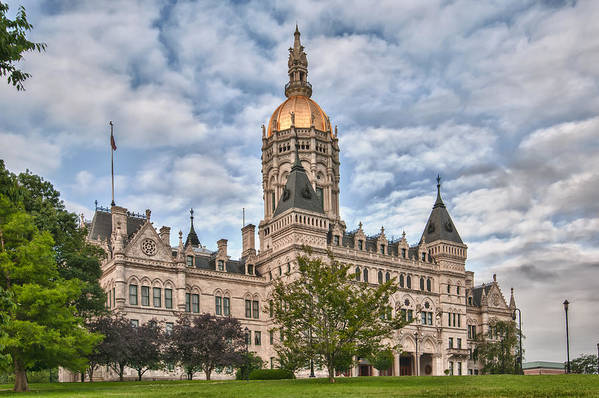 Buildings Art Print featuring the photograph Ct State Capitol Building by Guy Whiteley