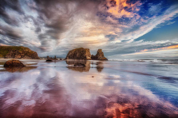 Bandon Art Print featuring the photograph Dancing Sunset by Darren White