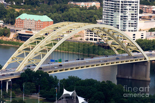 2012 Art Print featuring the photograph Daniel Carter Beard Bridge Cincinnati Ohio by Paul Velgos