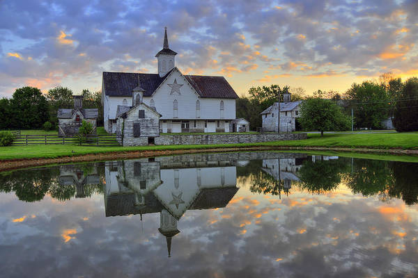 Barn Art Print featuring the photograph Dawn At The Star Barn by Dan Myers