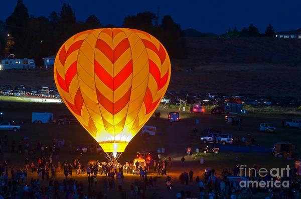 Balloons Art Print featuring the photograph Dawn Patrol- Reno Balloon Race by Steve Rowland