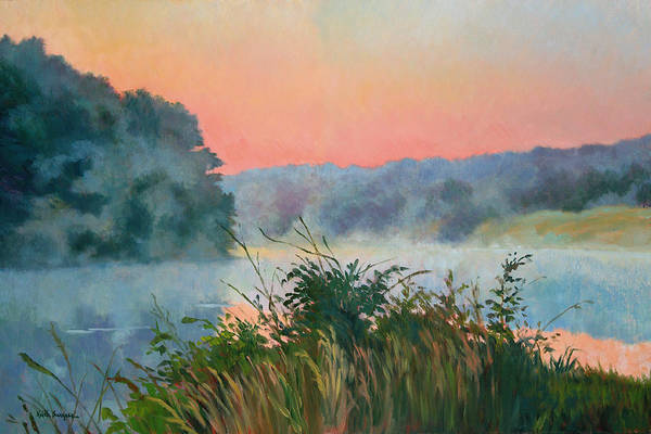 Impressionism Art Print featuring the painting Dawn Reflection by Keith Burgess