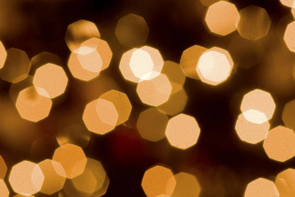 A macro Shot Of Some Of The White Lights On Our Christmas Tree. You Can Do This Too Art Print featuring the photograph Dazzling Lights by Rich Franco