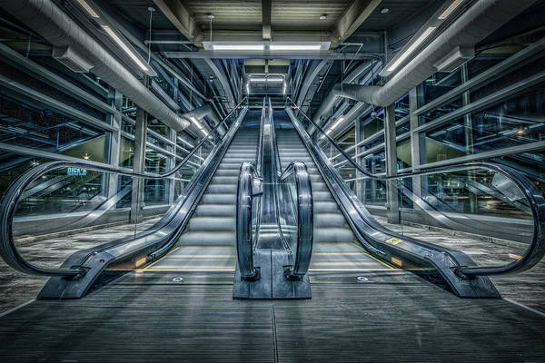 Escalator Art Print featuring the photograph Destiny by Everet Regal