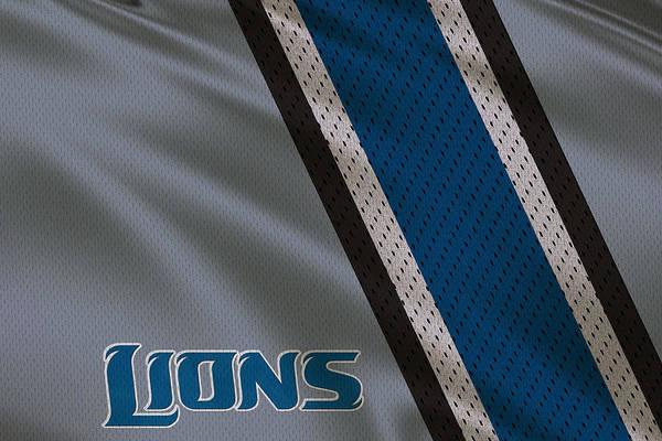 Detroit Lions Uniform Art Print By Joe Hamilton