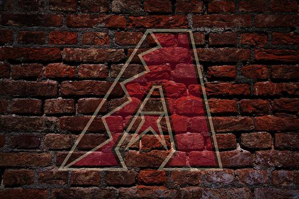 Baseball Art Print featuring the photograph Diamondbacks Baseball Graffiti On Brick by Movie Poster Prints