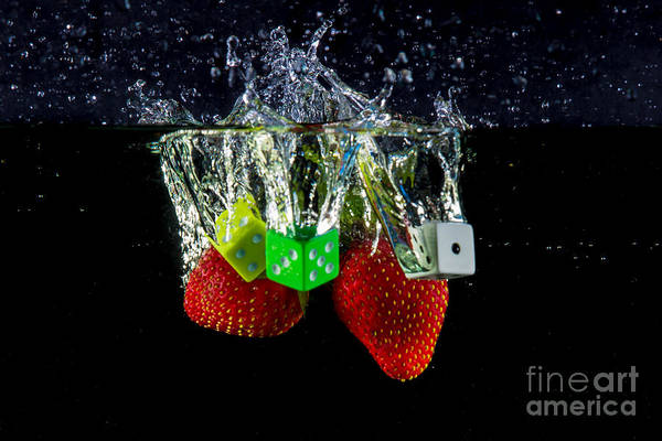 Dice Print featuring the photograph Dice Splash by Rene Triay Photography