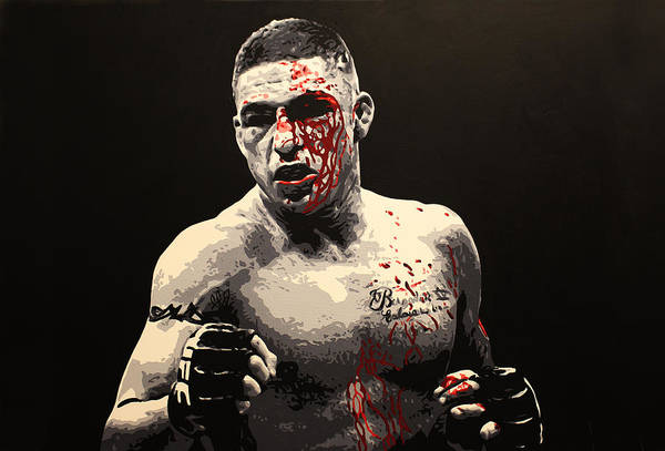 Diego Sanchez Art Print featuring the painting Diego Sanchez - War by Geo Thomson