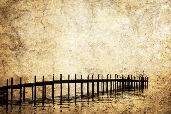 Balance Art Print featuring the photograph Dock 2 by Skip Nall