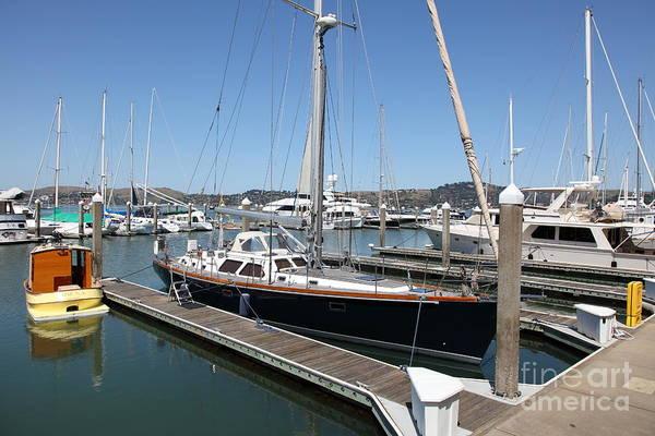 Sausalito Art Print featuring the photograph Docks At Sausalito California 5d22688 by Wingsdomain Art and Photography