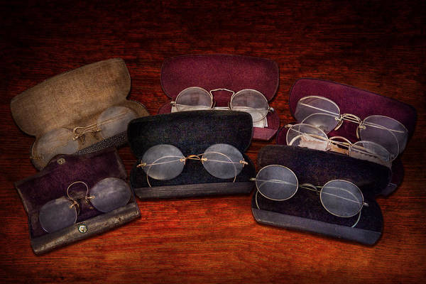 Optometry Art Print featuring the photograph Doctor - Optometrist - Array Of Opticals by Mike Savad