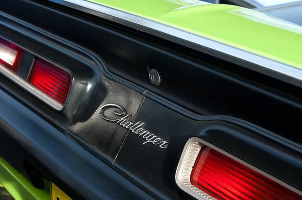 Dodge Challenger 440 Magnum Rt Taillight Emblem Art Print featuring the photograph Dodge Challenger 440 Magnum Rt Taillight Emblem by Jill Reger