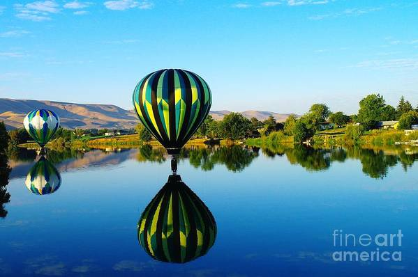 Reflections Art Print featuring the photograph Double Touchdown by Jeff Swan