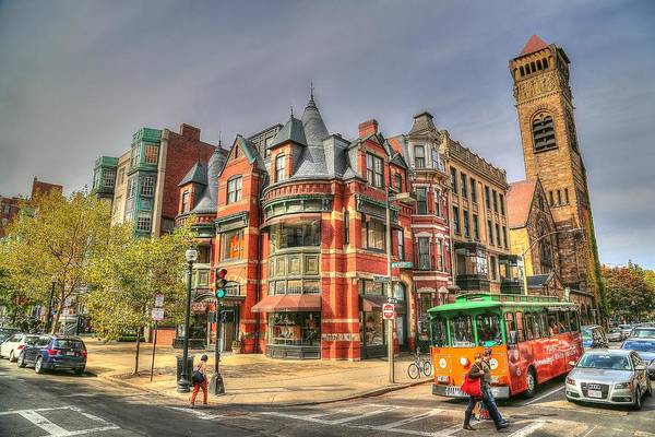 Boston Art Print featuring the photograph Downtown Boston. by Krista Sidwell