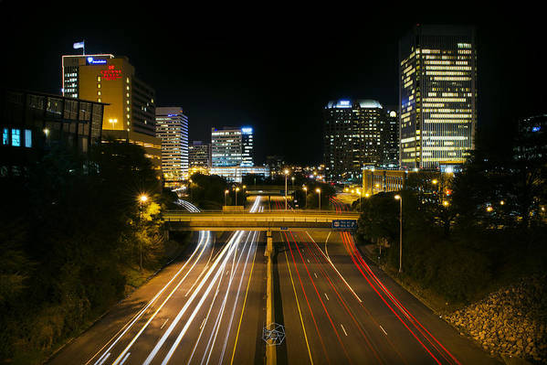 Cityscape Art Print featuring the photograph Downtown Richmond by Brian Archer