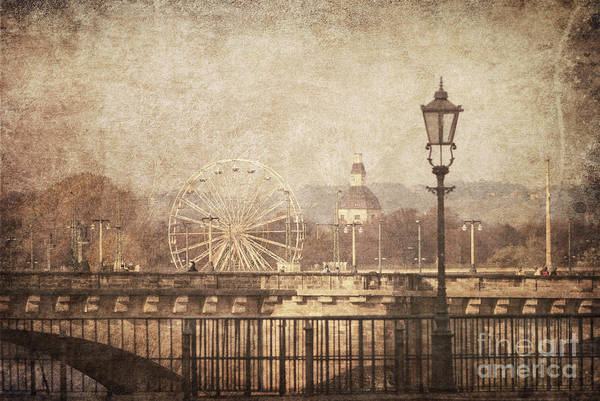 Vintage Art Print featuring the pyrography Dresden by Jelena Jovanovic