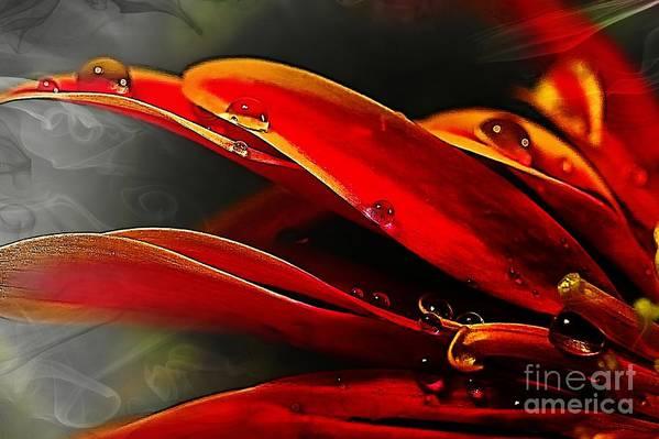 Red Art Print featuring the digital art Drop Dead Red by Wobblymol Davis