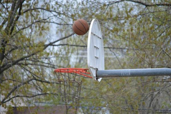 Basket Ball Art Print featuring the photograph Dropping In by Sonali Gangane