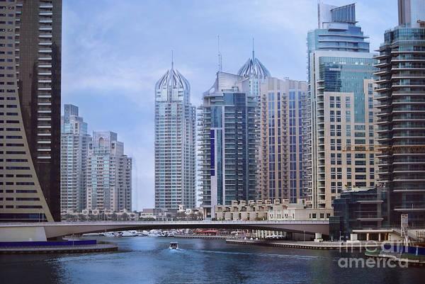 Dubai Art Print featuring the pyrography Dubai Marina by Jelena Jovanovic