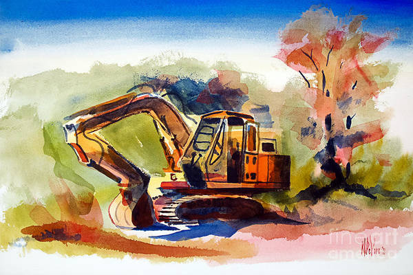 Duty Dozer Ii Art Print featuring the painting Duty Dozer II by Kip DeVore