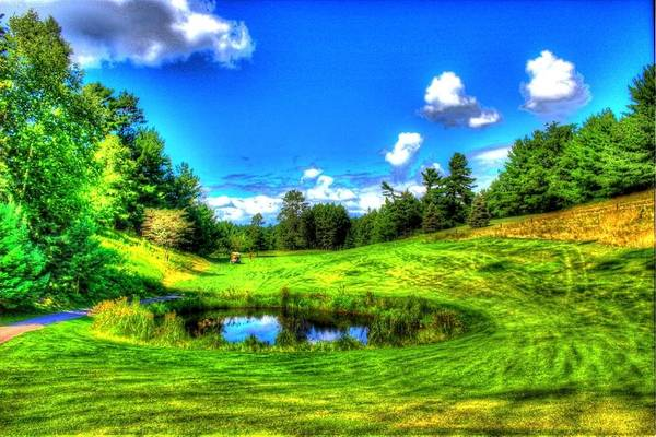 Art Print featuring the photograph Eagle River Golf Course by Charlotte Daniels