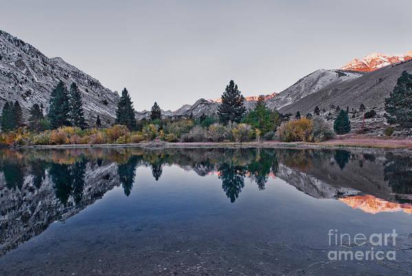 Eastern Sierra Reflection Art Print featuring the photograph Eastern Sierras Reflection by Mae Wertz