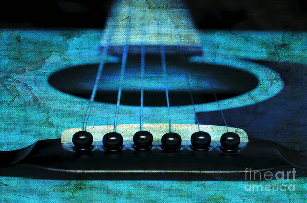 Abstract Art Print featuring the photograph Edgy Abstract Eclectic Guitar 16 by Andee Design