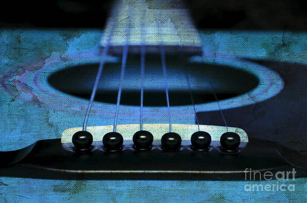 Andee Design Abstract Art Print featuring the photograph Edgy Abstract Eclectic Guitar 17 by Andee Design