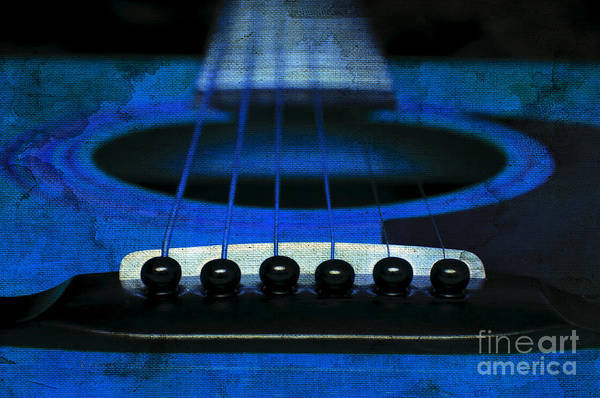Andee Design Abstract Art Print featuring the photograph Edgy Abstract Eclectic Guitar 18 by Andee Design
