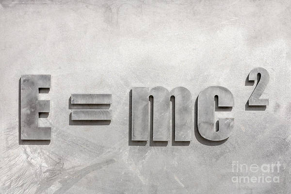 E=mc2 Art Print featuring the photograph Einstein Sculpture Emc2 Canberra Australia by Colin and Linda McKie