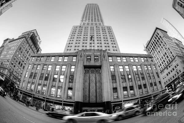 Empire State Building Art Print featuring the photograph Empire State Building In Black And White by Daniel Portalatin Photography