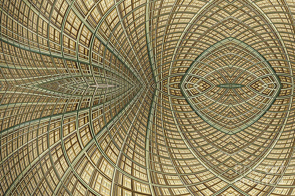Mesh Art Print featuring the digital art Enmeshed by John Edwards