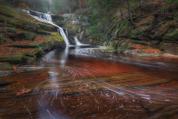 Smooth Water Art Print featuring the photograph Ethereal Autumn by Bill Wakeley