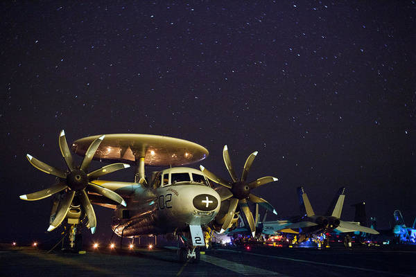 Jet Art Print featuring the photograph Evening On The Carrier by Mountain Dreams