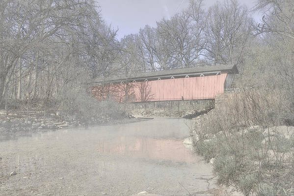 Cvnp Art Print featuring the photograph Everett Covered Bridge by Jack R Perry