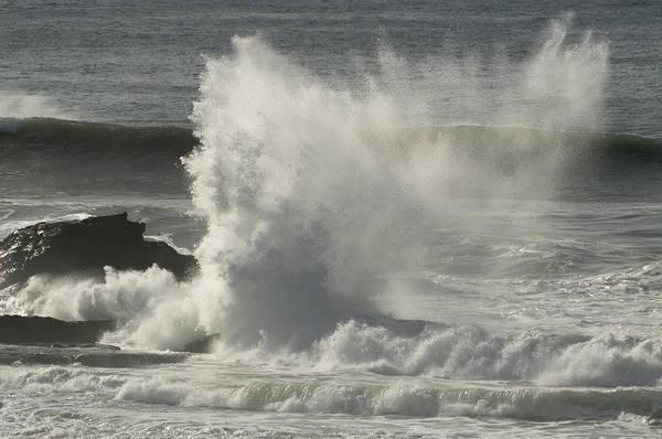 Mavericks Art Print featuring the photograph Explosive Wave At Mavericks Point by Scott Lenhart