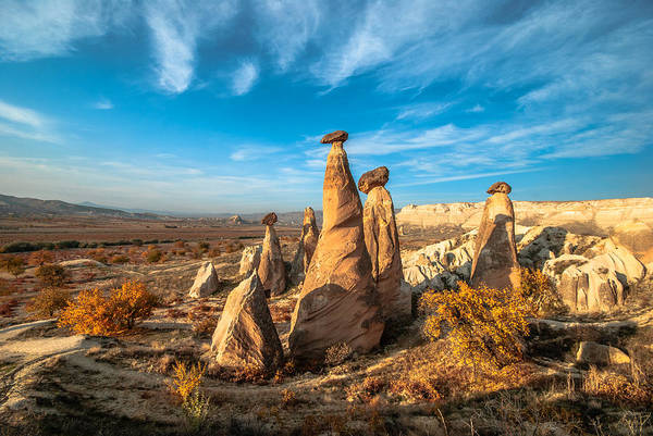 Geology Art Print featuring the photograph Fairy Chimneys In Cappadocia by ArdaAdnanKalkan