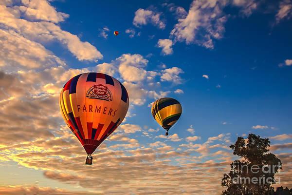 Arizonia Print featuring the photograph Farmer's Insurance Hot Air Ballon by Robert Bales