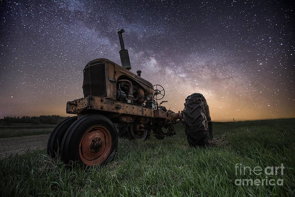 Milky Way Art Print featuring the photograph Farming The Rift 4 by Aaron J Groen