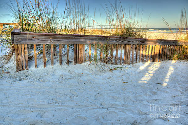 Fence At The Beach In St Augustine Florida Art Print featuring the photograph Fence At The Beach In St Augustine Florida by Michelle Constantine
