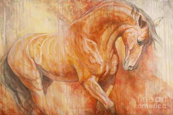 Horse Art Print featuring the painting Fiery Spirit by Silvana Gabudean Dobre