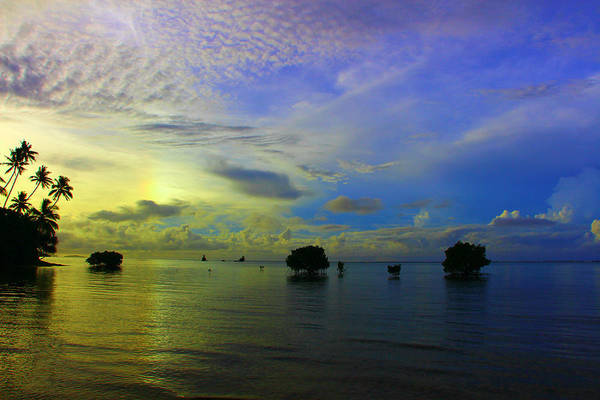 Fiji Art Print featuring the photograph Fijian Sunrise by Clark Kopelman