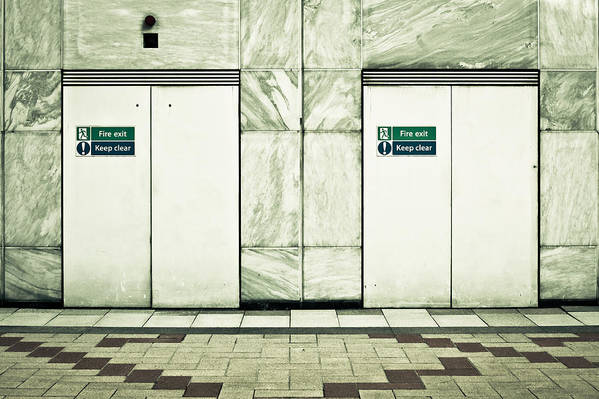 Marble Art Print featuring the photograph Fire Exits by Tom Gowanlock